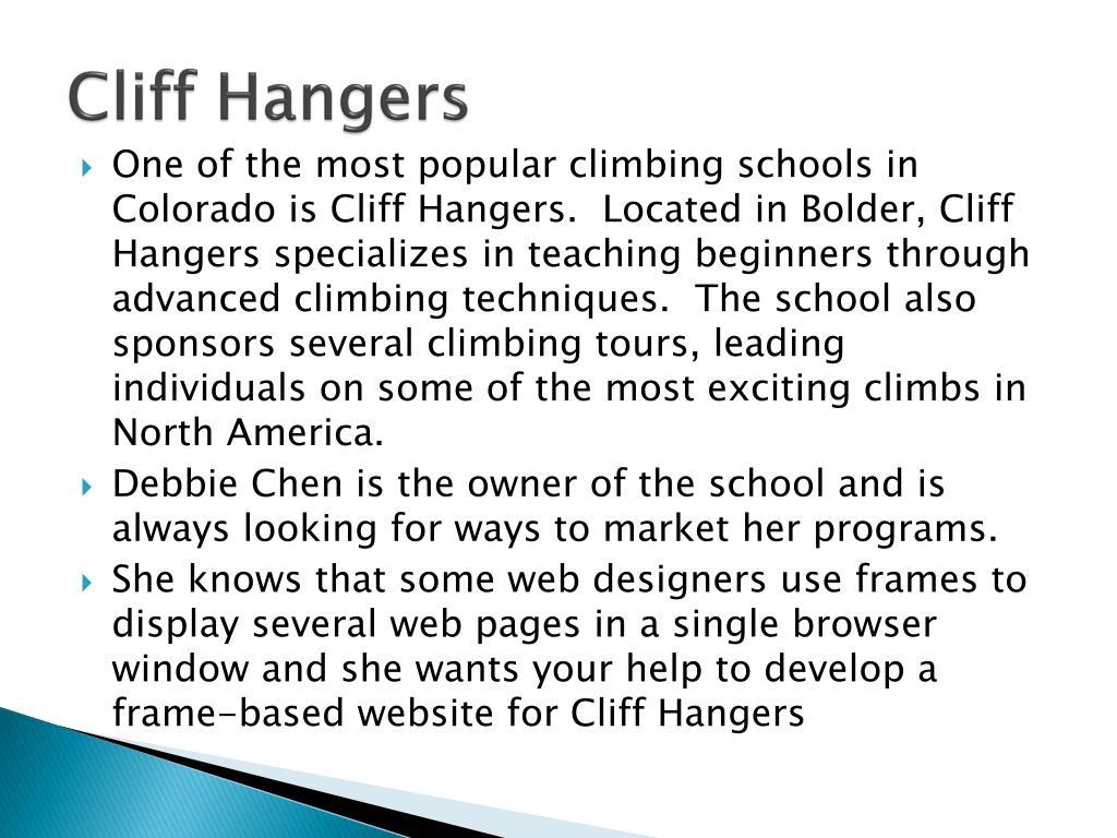 Cliff Hangers