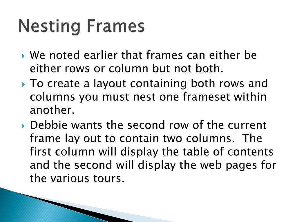 Nesting Frames