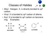 classes of halides