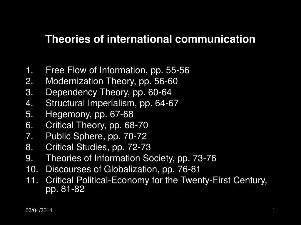 criticism on communication theories Criticism on communication theories topics: developed country, developing country, western culture pages: 3 (394 words) published: april 29, 2014 interpersonal communication approach the view of development as a replica of the systems of the change agents the change.