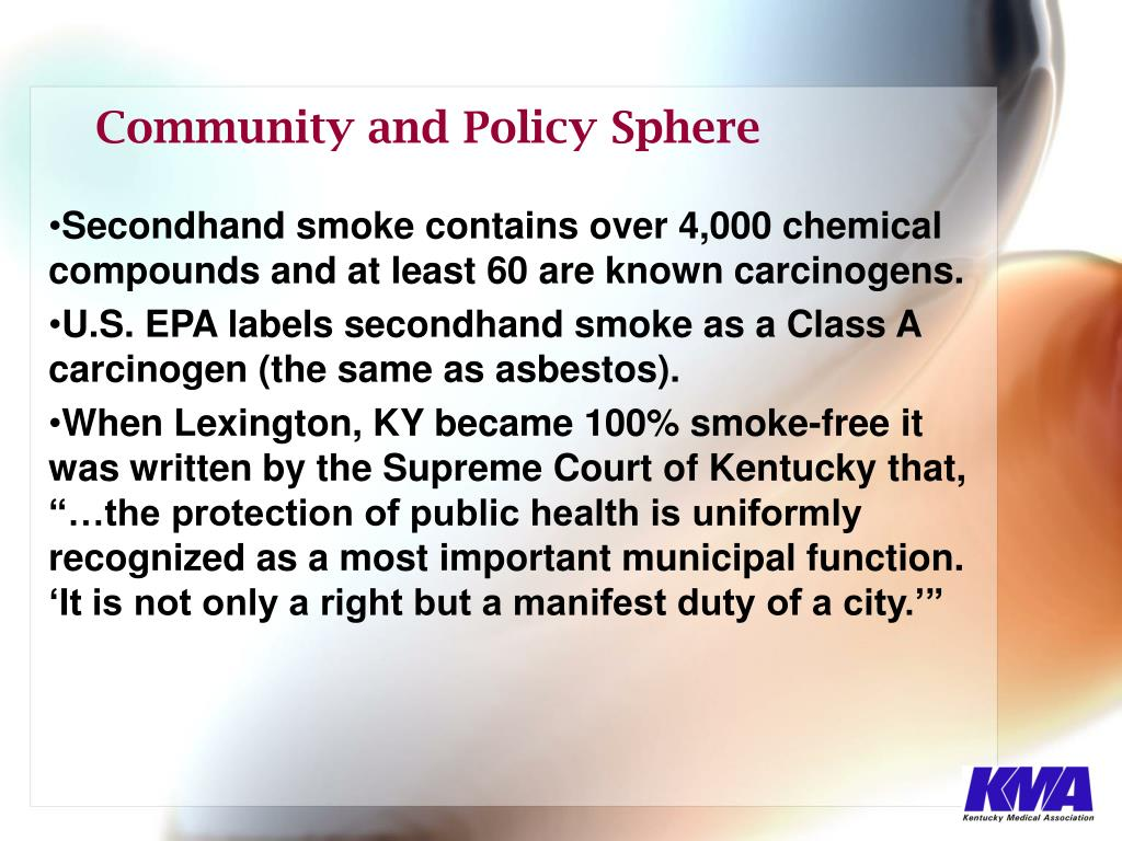 Secondhand smoke contains over 4,000 chemical compounds and at least 60 are known carcinogens.