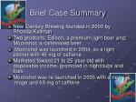 brief case summary