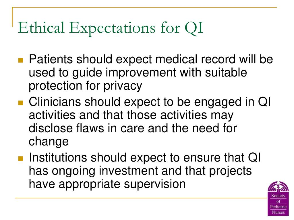 Ethical Expectations for QI