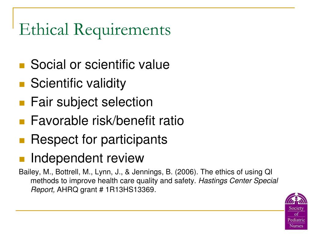 Ethical Requirements