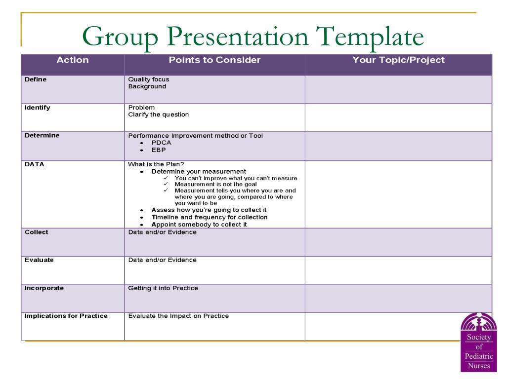 Group Presentation Template