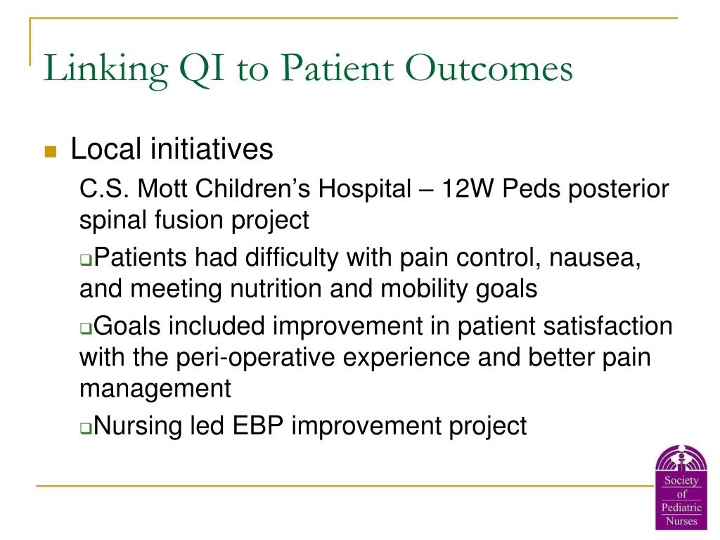Linking QI to Patient Outcomes