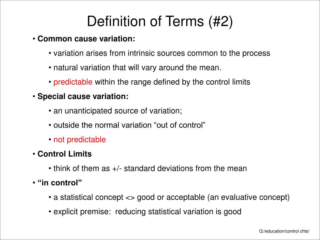 Definition of Terms (#2)
