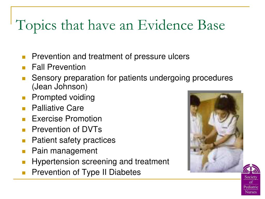 Topics that have an Evidence Base