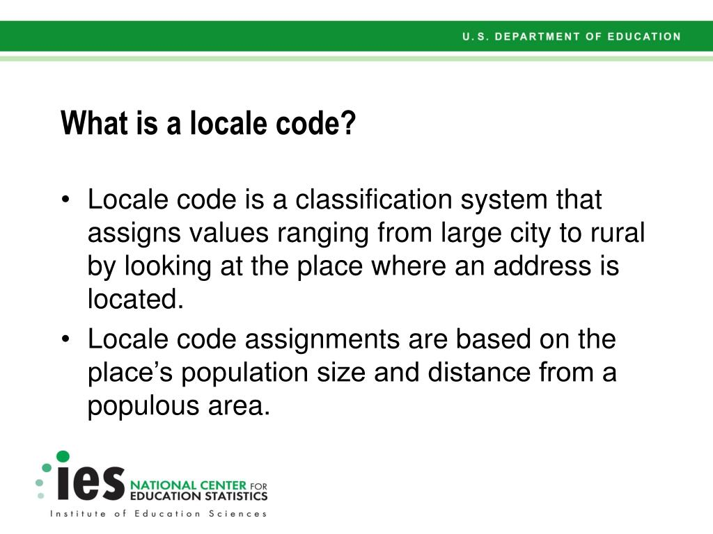 What is a locale code?