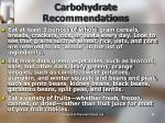 carbohydrate recommendations