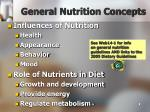 general nutrition concepts