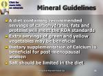 mineral guidelines
