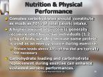 nutrition physical performance