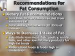 recommendations for fat consumption