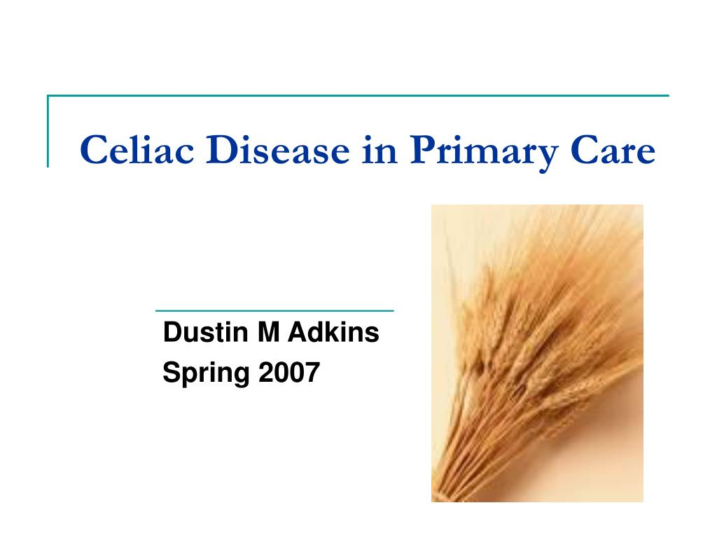 celiac disease in primary care l.