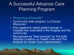 a successful advance care planning program