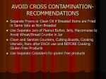 avoid cross contamination recommendations