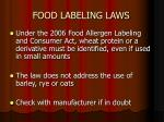 food labeling laws