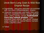 uncle ben s long grain wild rice original recipe
