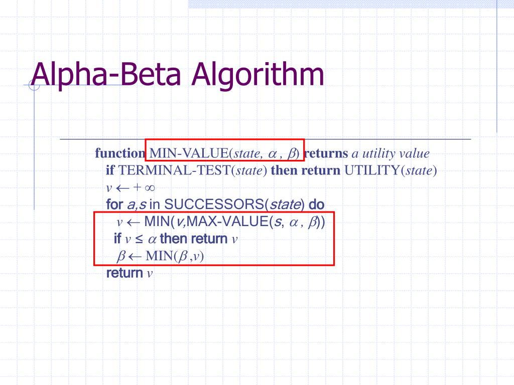 Alpha-Beta Algorithm