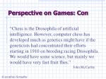 perspective on games con