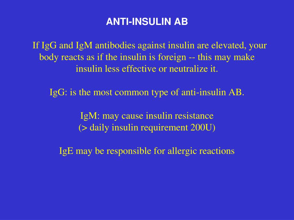 ANTI-INSULIN AB