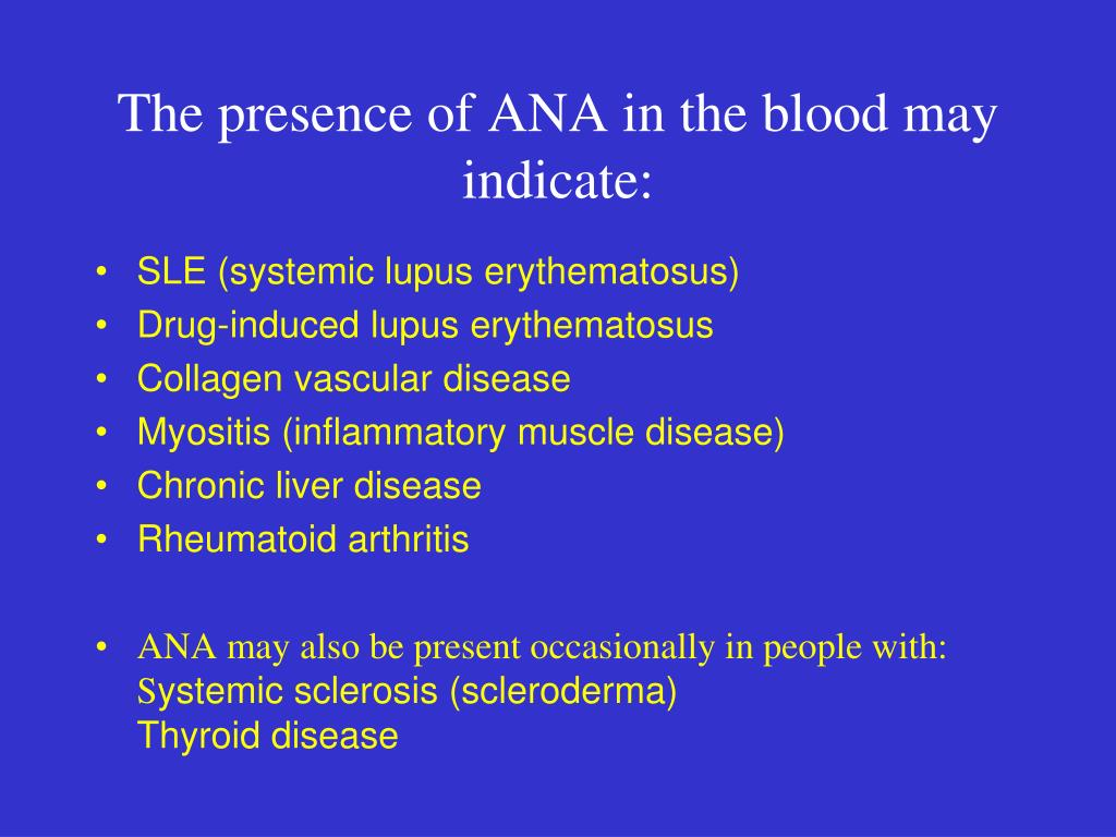 The presence of ANA in the blood may indicate: