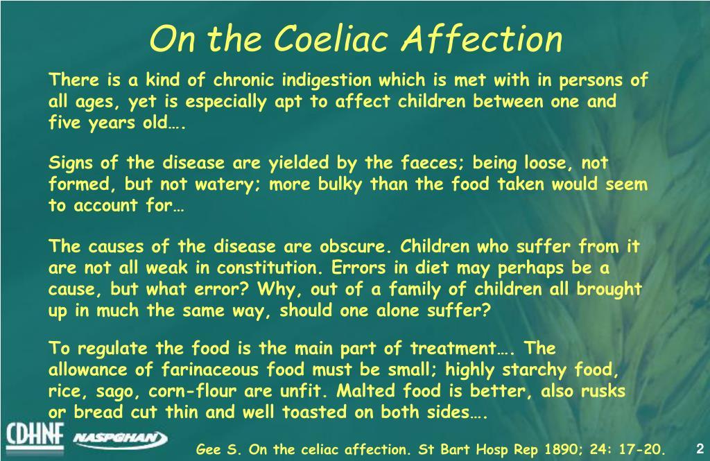 On the Coeliac Affection