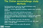 the italian microchallenge study methods