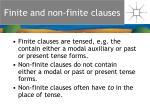 finite and non finite clauses
