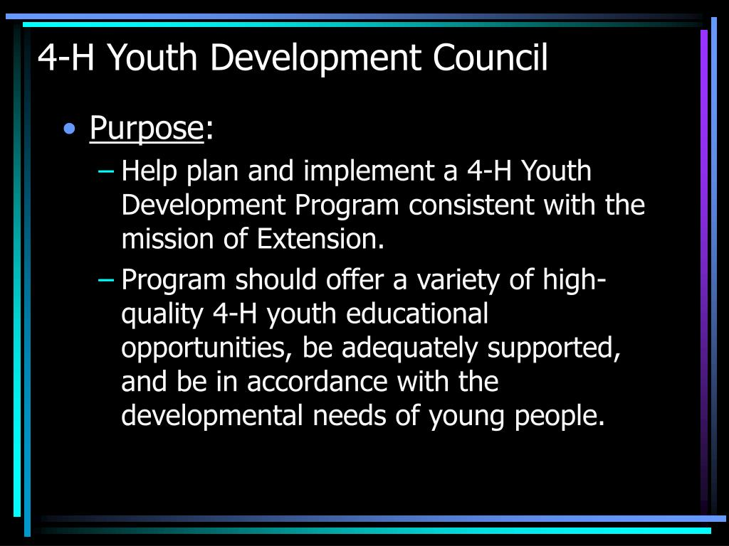 4-H Youth Development Council