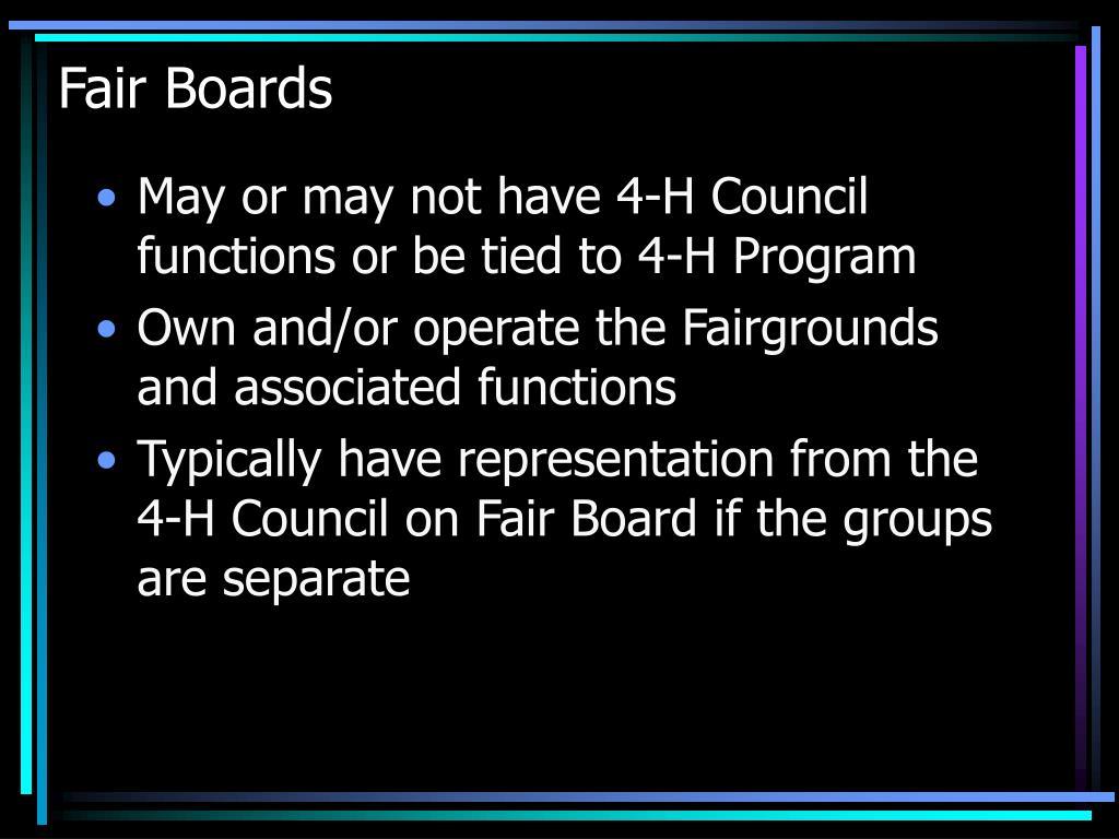 Fair Boards