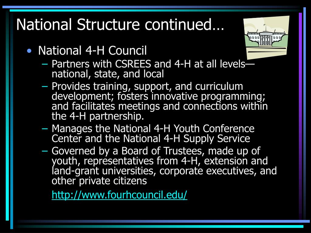 National Structure continued…