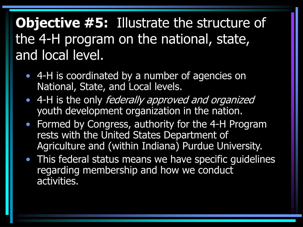 Objective #5: