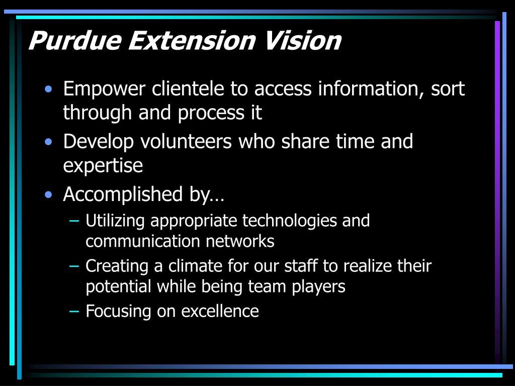 Purdue Extension Vision