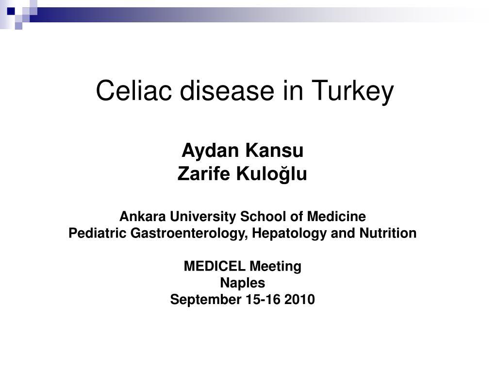 celiac disease in turkey l.