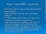 post travel ibs treatment