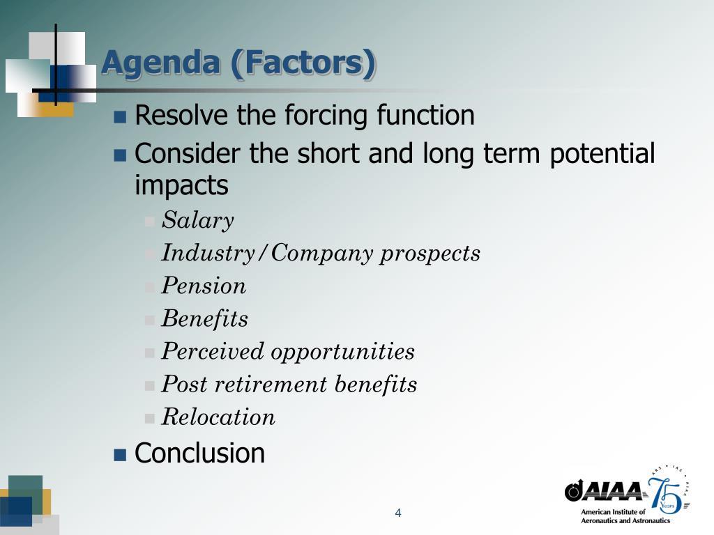 Agenda (Factors)