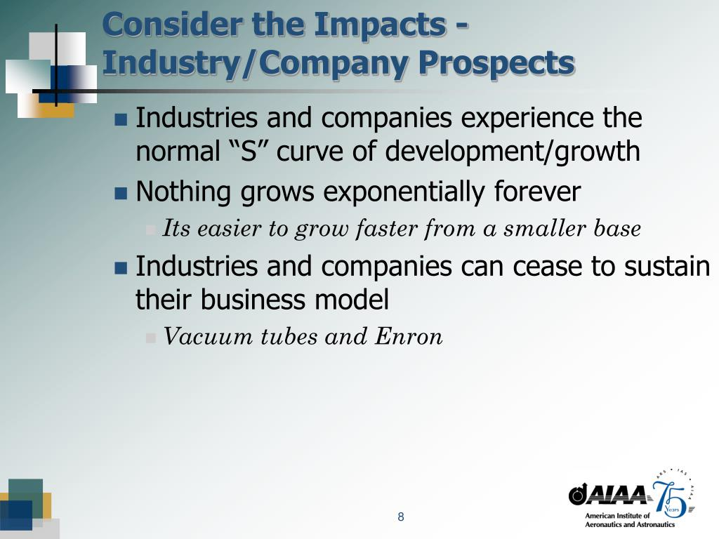 Consider the Impacts - Industry/Company Prospects