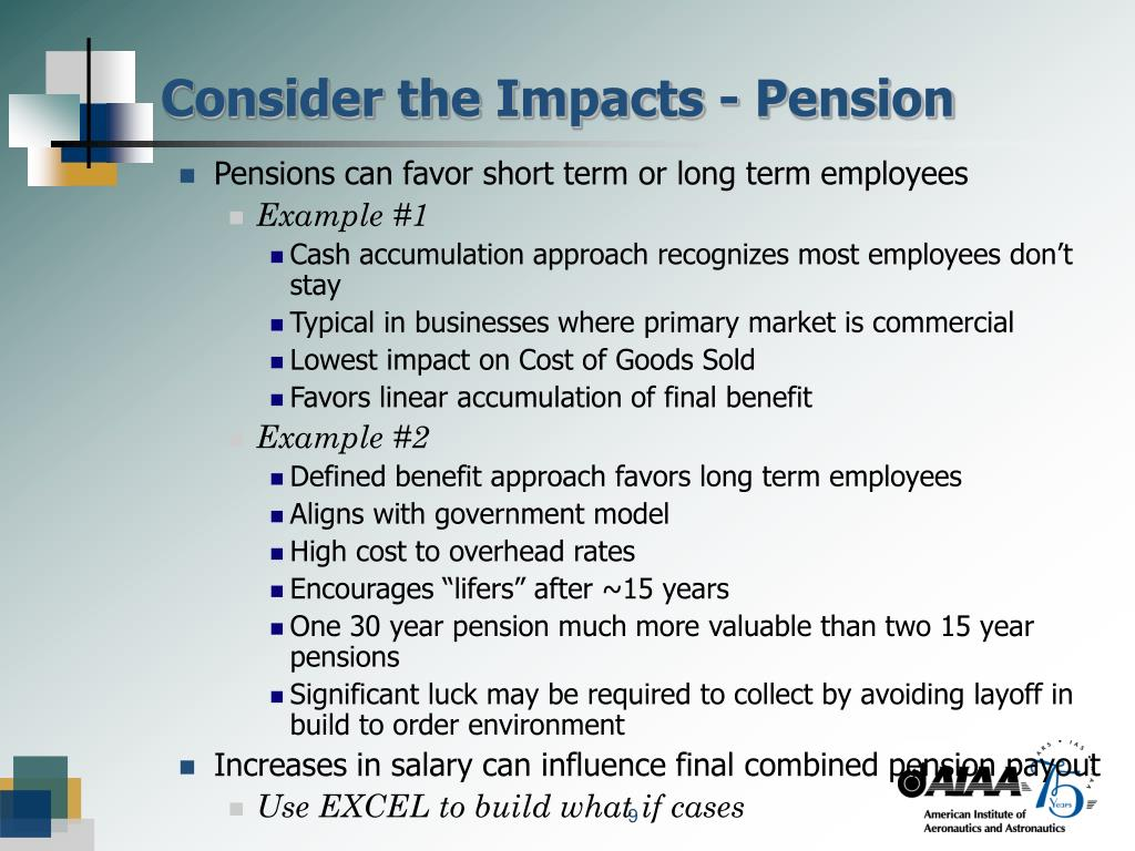 Consider the Impacts - Pension