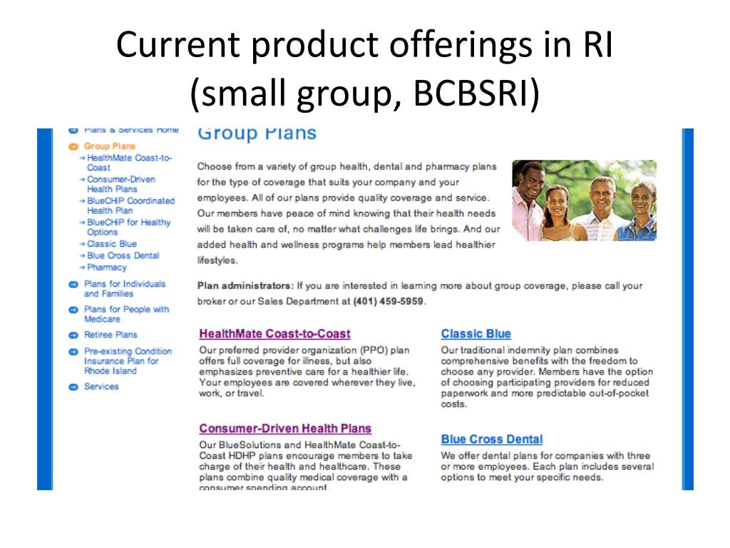 Current product offerings in RI