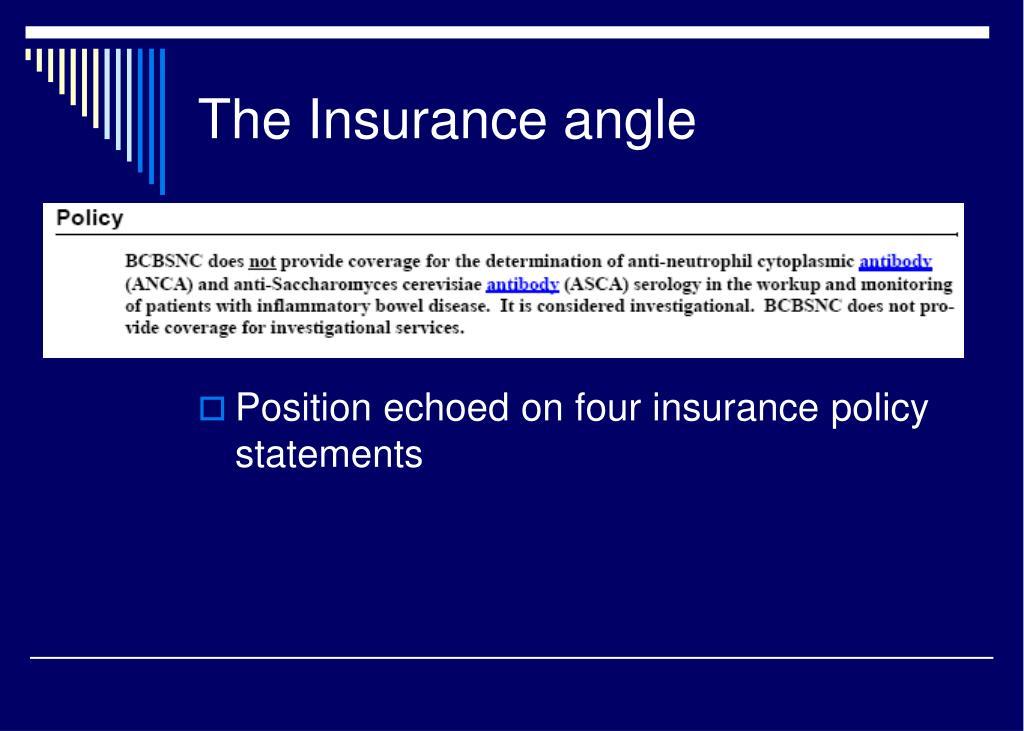 The Insurance angle
