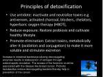 principles of detoxification