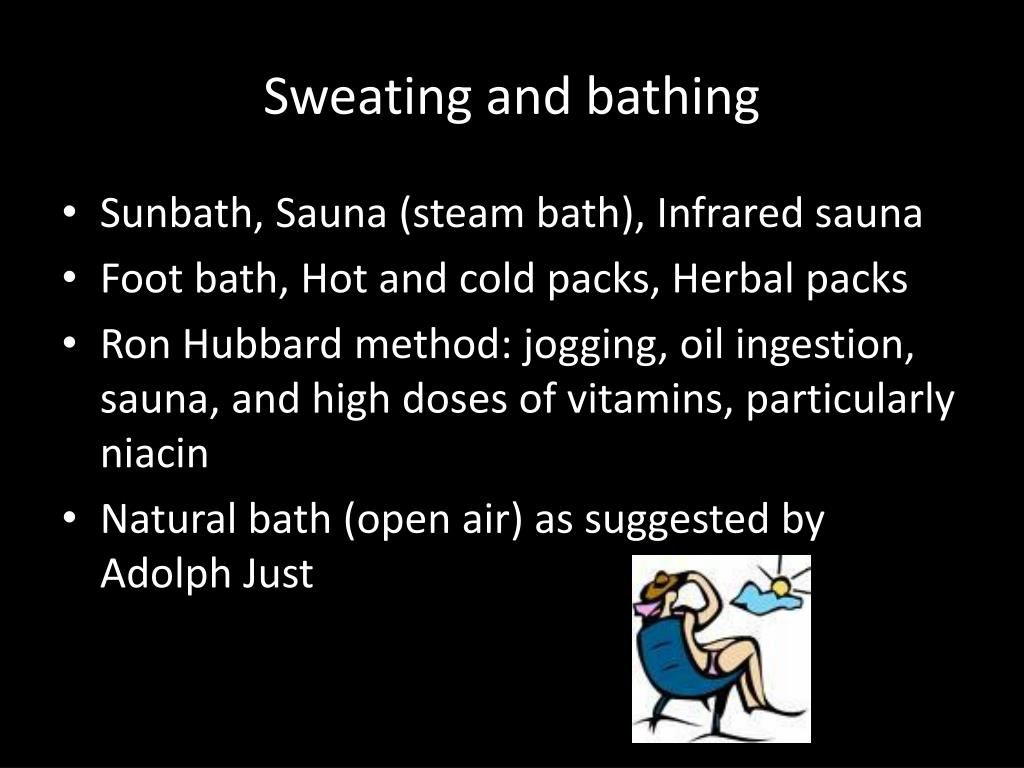 Sweating and bathing