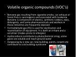 volatile organic compounds voc s
