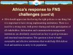 africa s response to fns challenges cont d