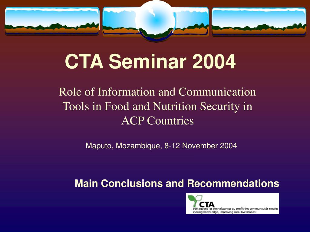 cta seminar 2004 l.
