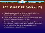 key issues in ict tools cont d