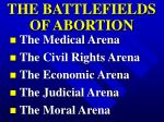 the battlefields of abortion