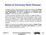 notes to coronary heart disease25